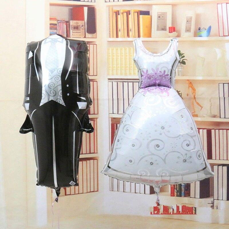 Palloncino Sposo Foglio Sposa 2 Matrimonio Pzset Decorazione qPAIwI