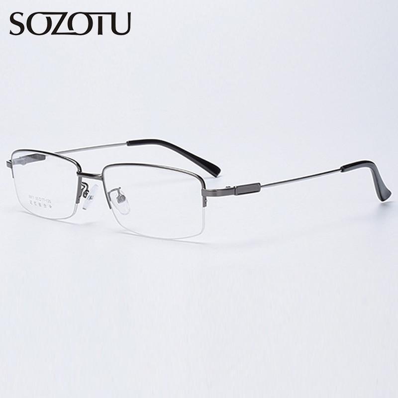 Optical Eyeglasses Frame Men Computer Myopia Memory Glasses Spectacle Frame For Male Transparent Clear Lens Eyewear YQ595