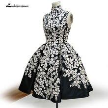 Coctel элегантные черные коктейльные платья короткие кружевные