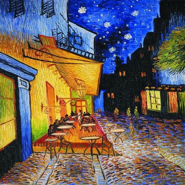 Terrasse De Cafe La Nuit Par Vincent Van Gogh Mur Impressions Sur