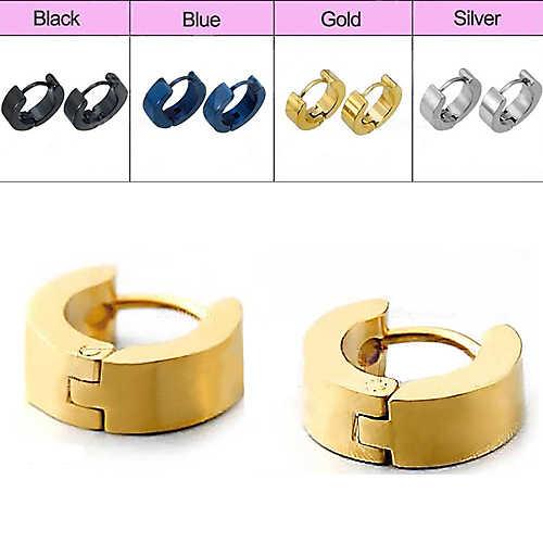1 Pair Fashion vintage Cool Men's Stainless Steel Huggie Hoop Earrings Casual Jewelry