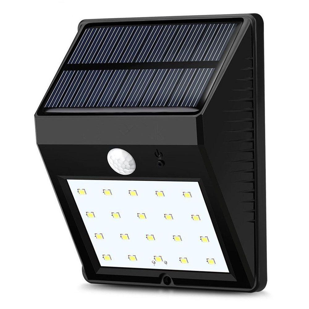 AIMIHUO 20 LED सोलर IR मोशन सेंसर लाइट सोलर पावर लैंप वाटरप्रूफ LED गार्डन लाइट आउटडोर वॉल लाइट सोलर सेंसर लैंप