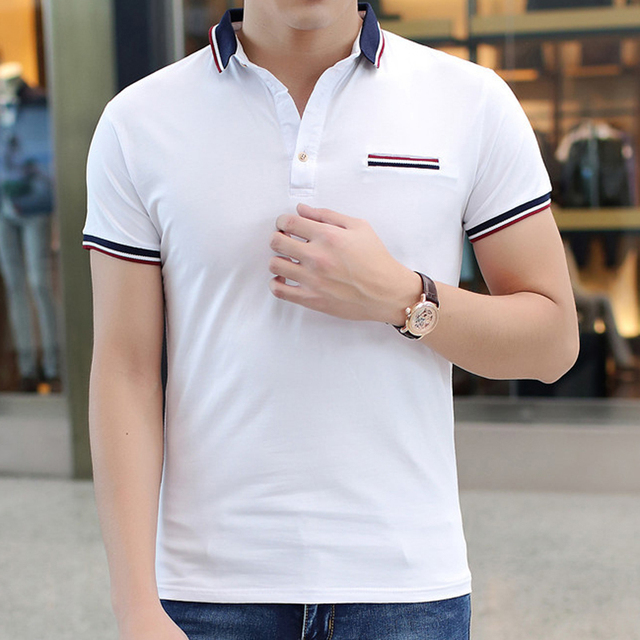 2016 New Summer Men POLO Shirt Fashion Solid Polo Homme Slim Fit Short-sleeve Camisa Polo Men Clothing