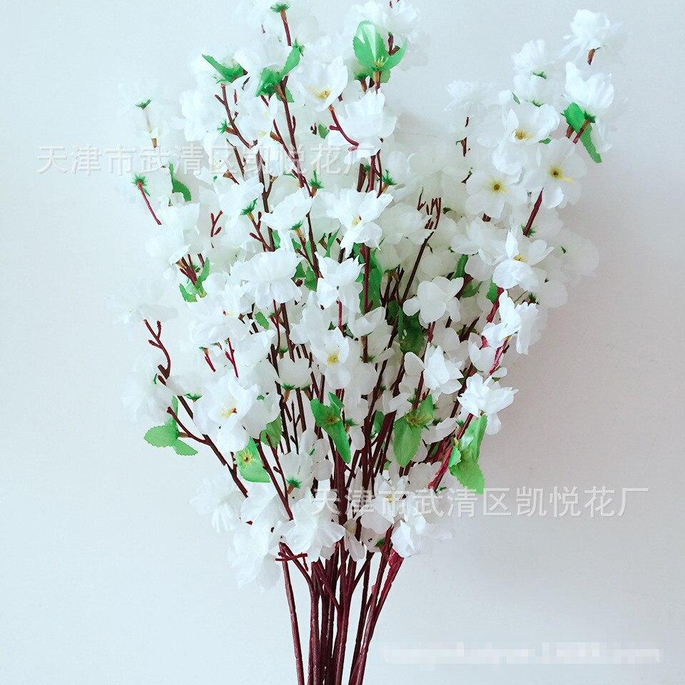 Jarrones flores artificiales romntico artificial ramas de melocotn
