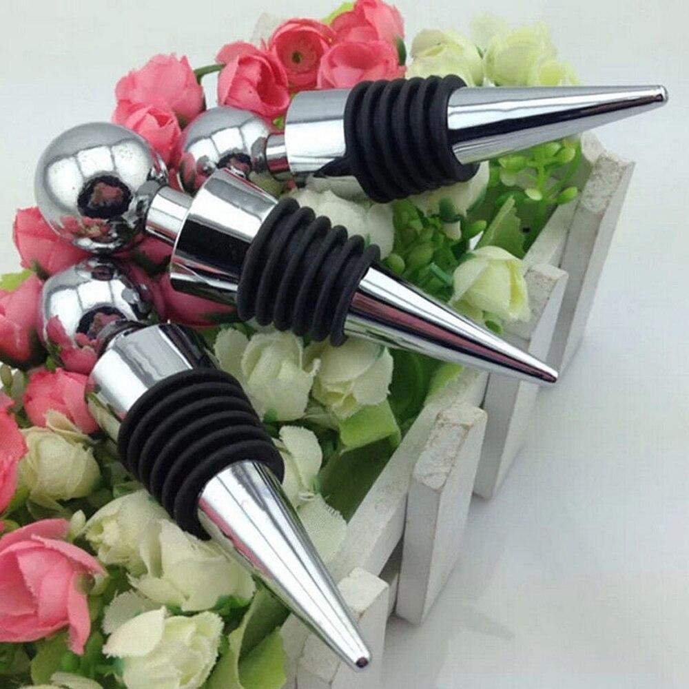 Wine Bottle Stopper Metal Vacuum Sealed Bar tools Accessories Twist Cap Plug Vacuum Sealed Wedding Gift