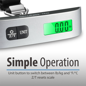 Image 4 - 110lb/50kg Luggage Scale Electronic Digital Portable Suitcase Travel Scale Weighs Baggage Bag Hanging Scales Balance Weight LCD
