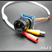 6pcs/lot Analog 1200TVL Mini Camera Module with CS Lens F1.2 4mm