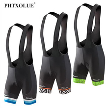 Phtxolue Bicycle Bib Short Men Summer Coolmax GEL Breathable Pad Bike Tights MTB Moisture Wicking Shorts/Ropa Ciclismo