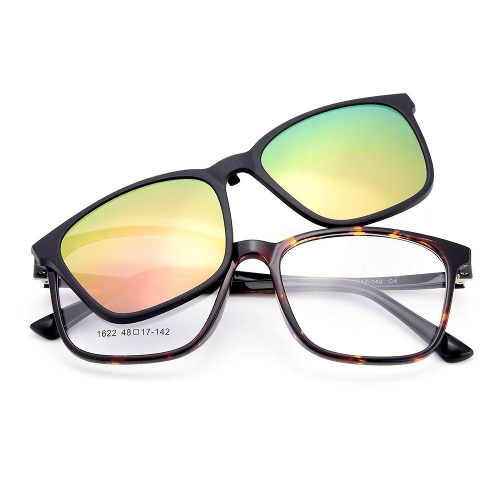 fce33e00f3 BAONONG ultraligero TR90 mujeres gafas de Marco Clip magnético polarizado  en sombrillas de doble propósito óptico de los hombres gafas 1622