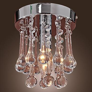 Flush Mounted LED Crystal Ceiling Lights Lamp For Living Room , Lustres De Teto Free Shipping