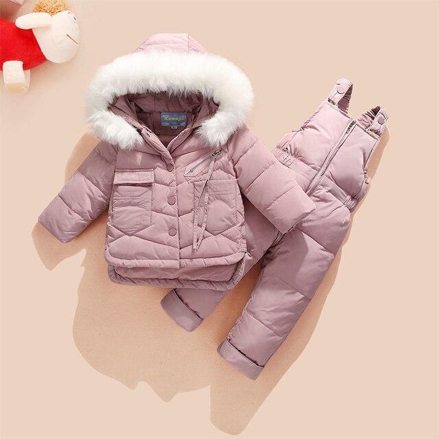 acd9bc504b90c -30 rosyjski Zima Snowsuit 2018 Chłopiec Kurtka 80% Kaczki Dół Zewnątrz  Ubrania Dziecięce Dziewczyny