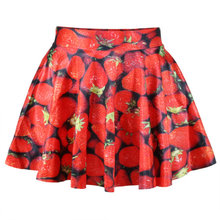 X-146 2017 Women Fashion Lolita Style Pleated Skirts Vintage Saia Skirt Faldas Mujer(China)