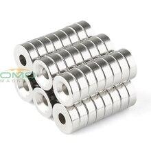 ОМО Magnetics N35 48 pcs Сильный неодима Круглый Кольцо цилиндров с потайной отверстия 4 MM магниты 12mm x 5mm