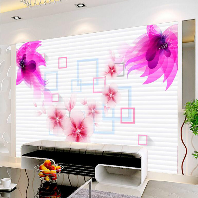 Commission 3D Wallpaper For Walls 3d Decorative Vinyl Wall Paper Background  Dream Flower Mural Wallpapers Home Improvement