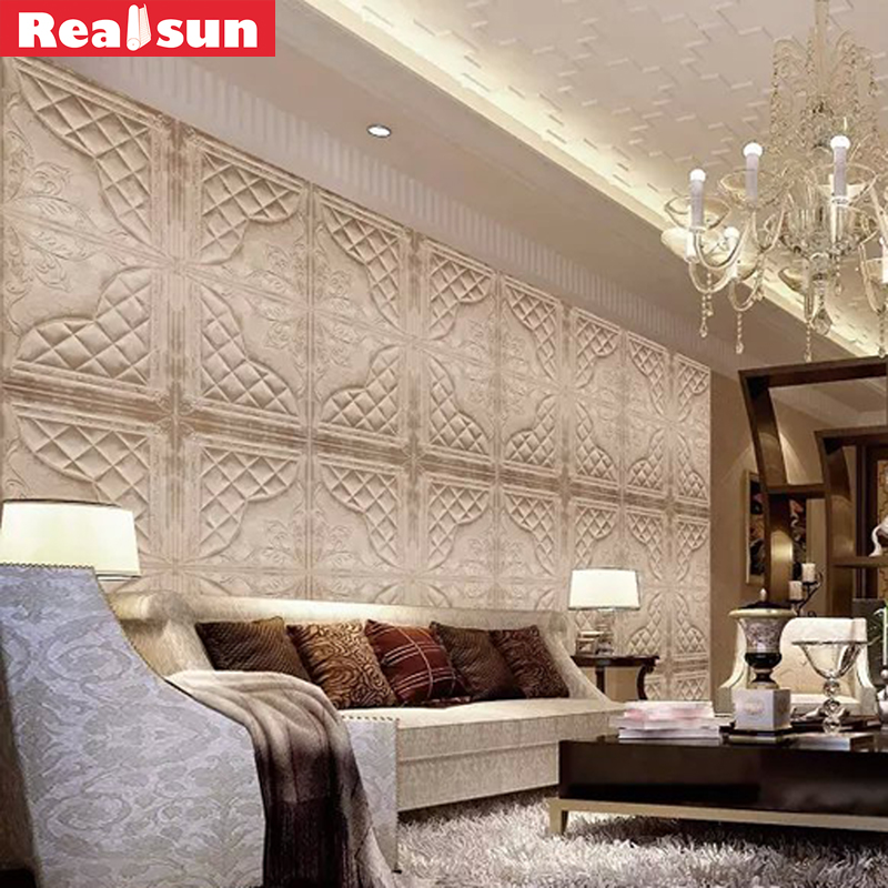 2018 3d pu leather wall panel new design wall sticker with stone for