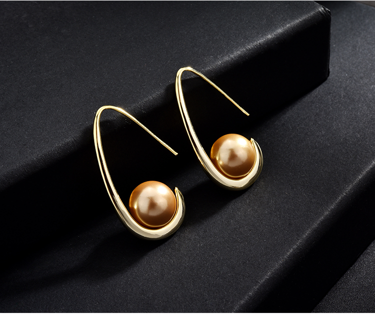 fashion pearl gold stud drop earrings 01 (8)