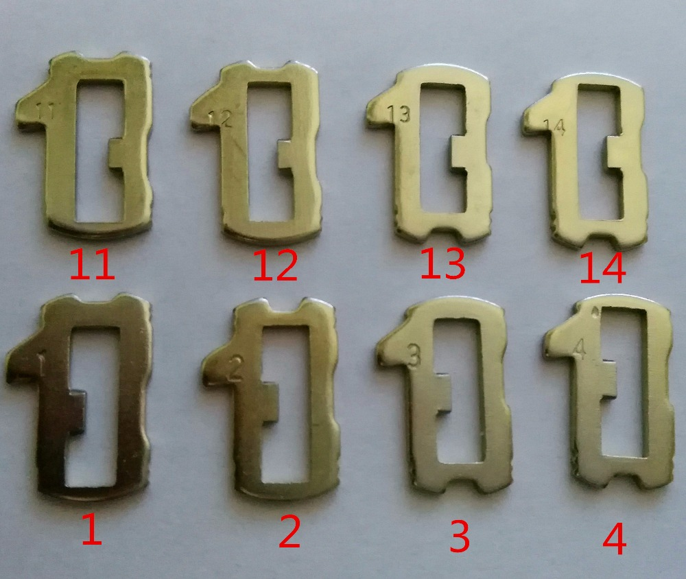 Car Lock Reed HU66 Plate For AUDI VW Volkswagen Plate NO 1.2.3.4,11.12.13.14 Each 25PCS For VW Lock Repair Kits