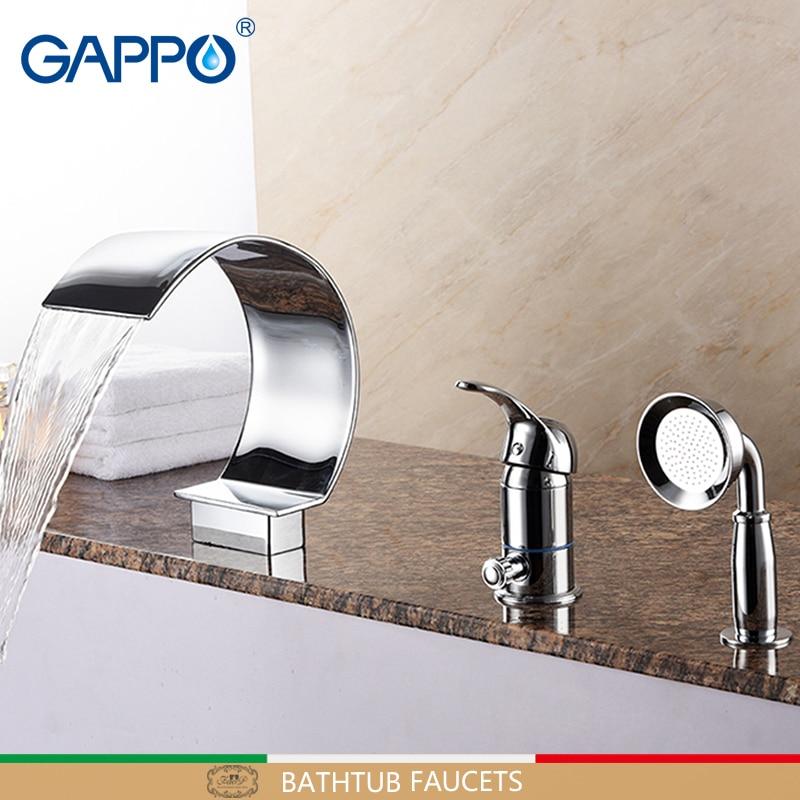 GAPPO Bathtub Faucets deck mounted bath shower mixer taps waterfall bath tub faucet tap bathroom mixer tap waterfall faucet