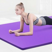 10mm Yoga Mat Non-slip Thicked NBR Fitness Gym 183x61cm Yoga Mat Bag Pad Sports Bandages Gymnastic Mats Esterilla Tapete Yoga