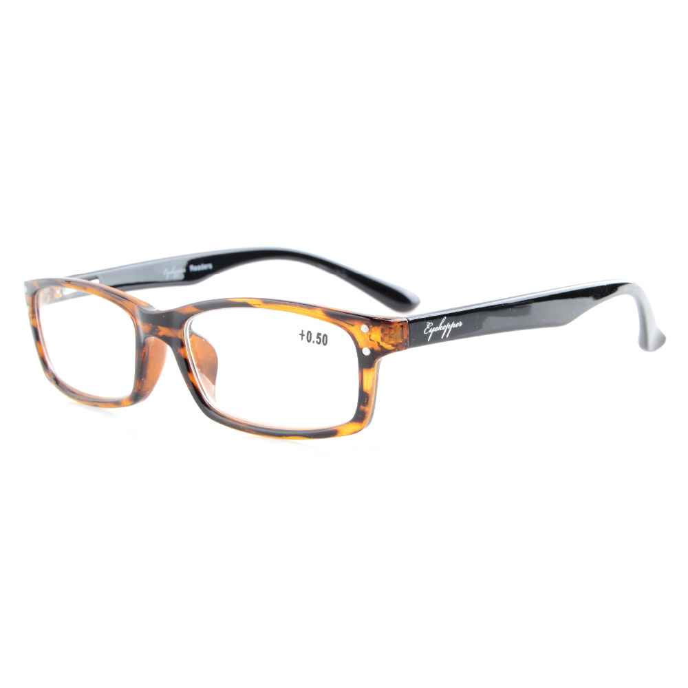 R103 Mix Eyekepper 5-Pack Rectangular Frame Spring-Hinges Quality Reading Glasses Include 2 Computer Readers +0.50---+4.00