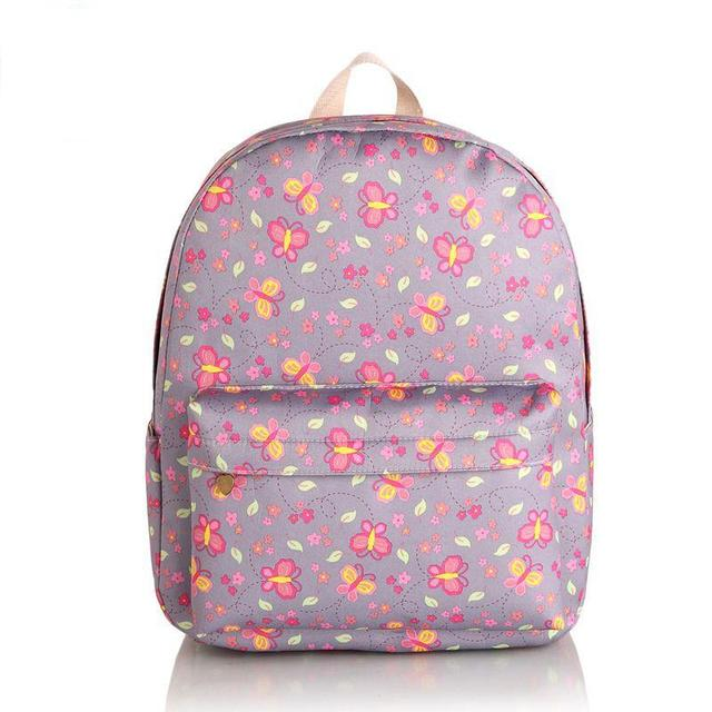 New 2015 butterfly printing women bag with sweet candy color,Korean style student backpacks, Simple gadget travel bags wholesale