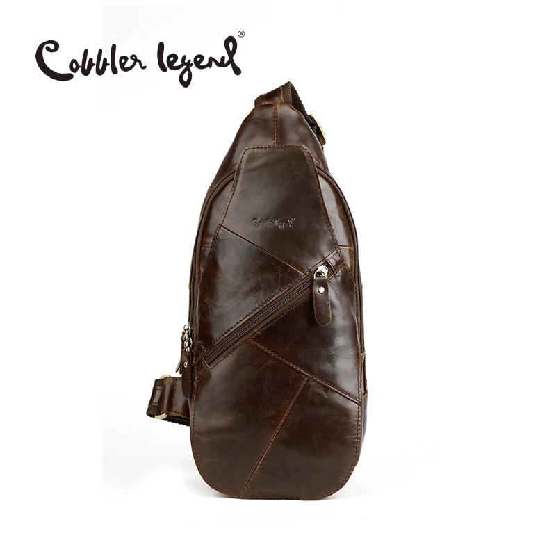 Cobbler Legend Famous Brand Design 2017 Fashion Genuine Leather Bag Chest Pack Men Messenger Bags Vintage Shoulder Bags #03251-1 cobbler legend 2015 messenger 100
