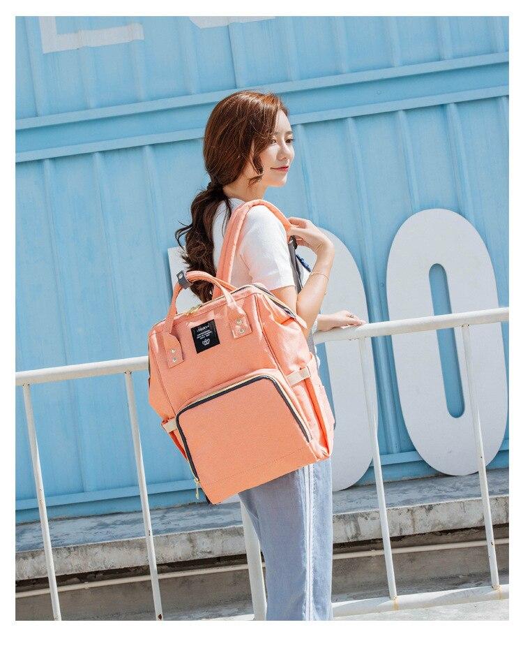 HTB12lPod8fM8KJjSZFhq6ARyFXaU Maternity Bag Waterproof Diaper Backpack for Mom Nappy Bags Large Capacity Baby Bag Travel Mummy bag Designer Nursing Bag