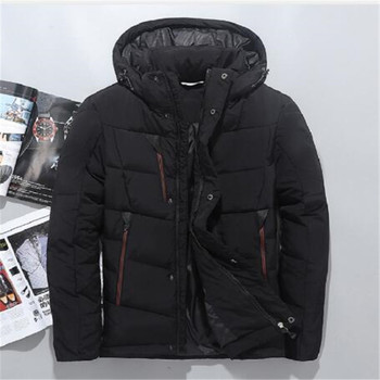 Men Down Jacket Brand Clothing High Quality Men Casual Warm Hooded Fur Collar Slim Down Coats Winter Jackets Free Shipping