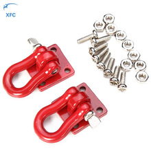 1 Pair Hook Hitch Tow Shackles Red for RC 1:10 Scale Crawler Drifting Car Upgrade Part