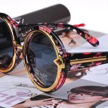 Горячее предложение! Распродажа! Модные Винтажные Солнцезащитные очки для ремонта, большие круглые солнцезащитные очки со стрелками, металлические круглые женские солнцезащитные очки