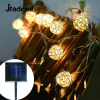 Jiaderu LED 2 5m 20Leds Solar Lights Led On Thailand Cotton Cane Christmas Wedding Holiday Decoration