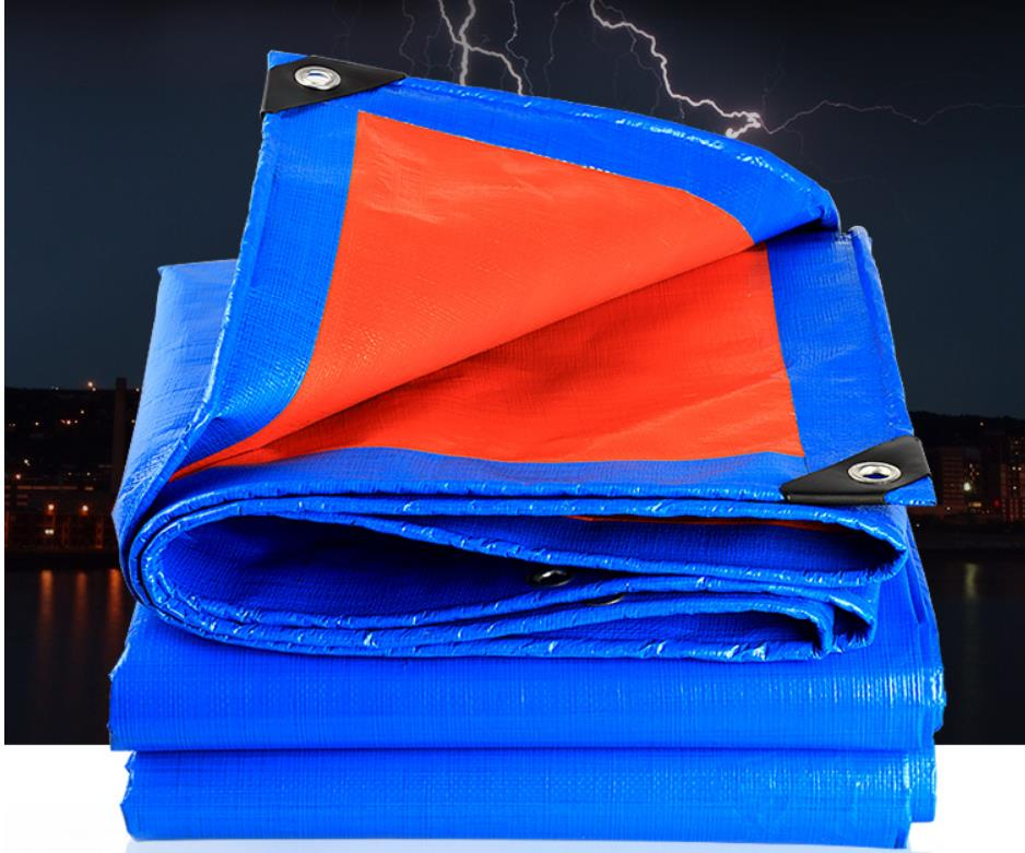 Multiple Dimensions Blue And Orange Outdoor Goods Cover Canvas, Waterproof Material, Canvas, Rain Tarpaulin, Truck Tarp,