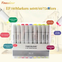Finecolour EF100 240 Colors Alcohol Based Ink Double Headed Sketch Art Markers With Box недорого