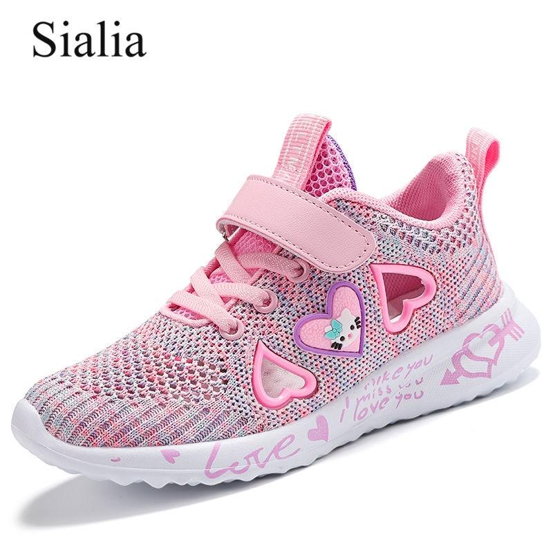 Sialia Summer Girls Sandals For Kids Shoes Children Sandals Girls Shoes Cut-outs Breathable Mesh Fashion Tenis Infantil Menina