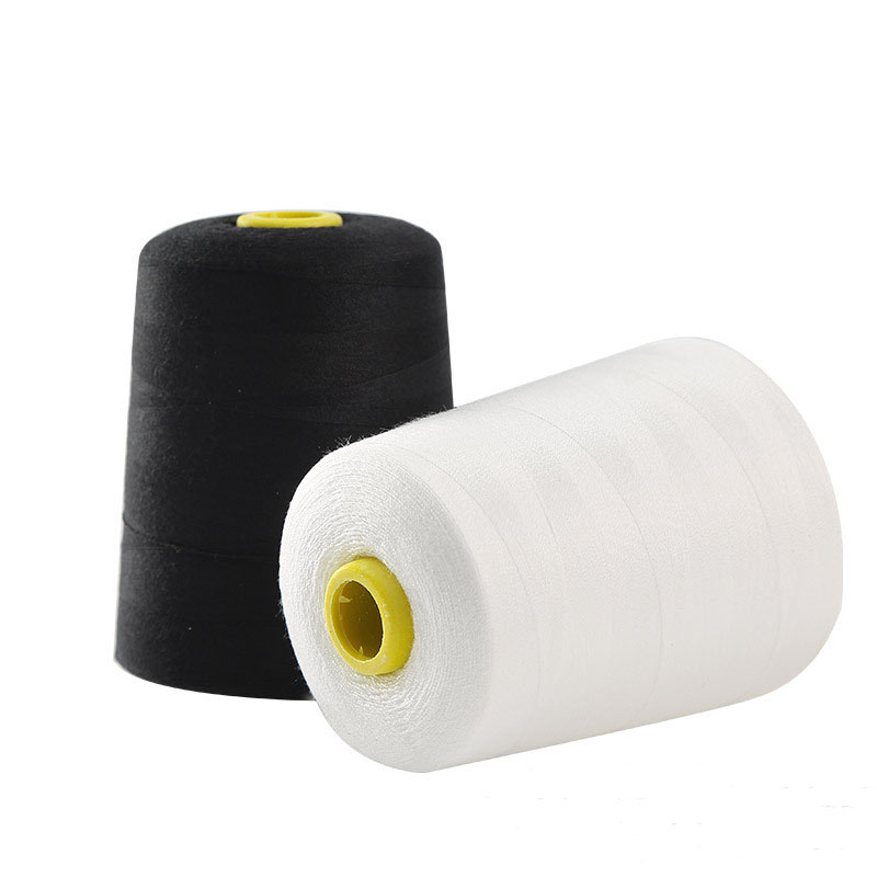 20s/3 3000 Yards Polyester Thread For Sewing Jeans Denim Thick Fabric White Black Industrial Machine Sewing Thread Fil A Coudre