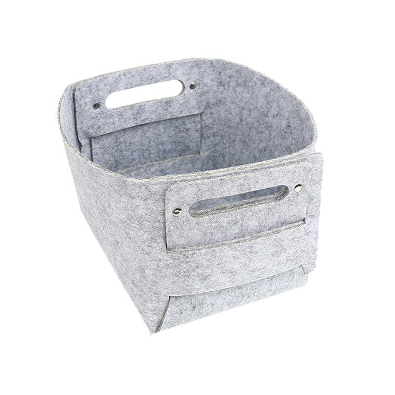 Fashion Hot Sell Felt Storage Basket Collapsible Convenient Laundry Bin For Organizer Baby Toy Book And Snacks Box