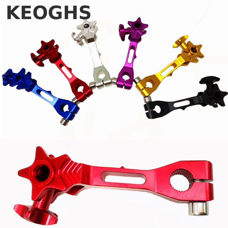 Keoghs Motorcycle Rear Brake Rocker Arm/lever Cnc Aluminum For Honda Yamaha Motorbike 6 Colors Free Shipping keoghs motorcycle rear hydraulic disc brake set diy modify cnc rpm brake pumb for yamaha scooter dirt bike motorcross motorbike