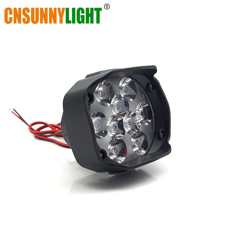 CNSUNNYLIGHT Moto Scooter LED Spotlight Motos Phare 10 W 1500Lm 6500 K Blanc Lecteur de Travail Spot Lumières Feu De Brouillard