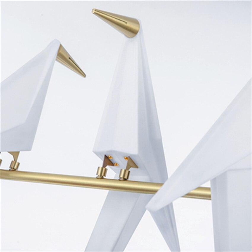 Nordic LED Bird Paper Crane Metal Chandelier for Restaurant Living Room Dining Room Children 39 s Room LED Bird Design Pendant Lamp in Pendant Lights from Lights amp Lighting