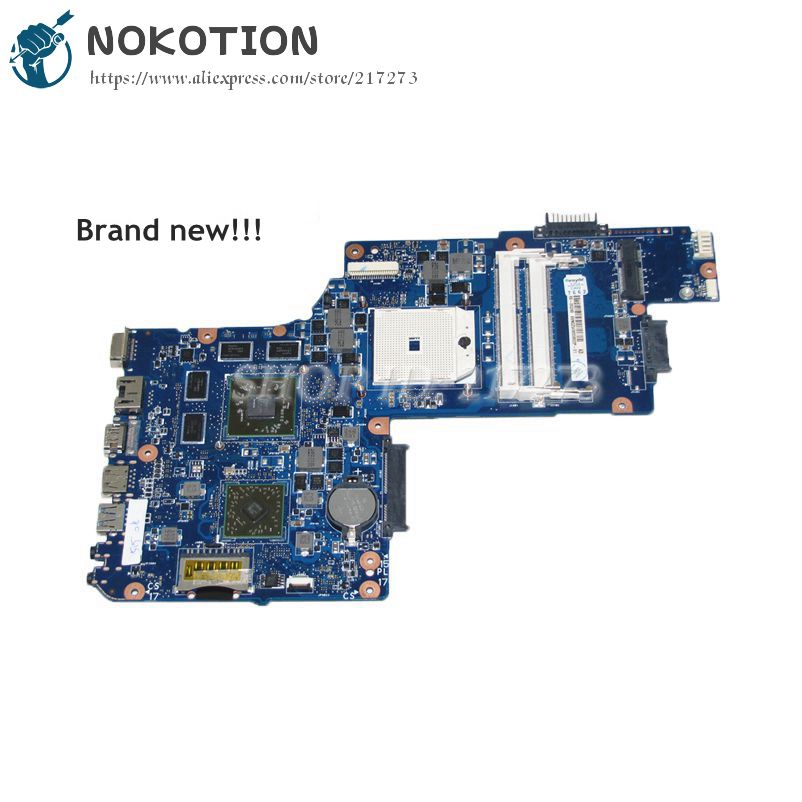 NOKOTION H000051780 PC Motherboard For Toshiba Satellite C855 C855D L850D C850D MAIN BOARD Socket FS1 DDR3 HD7670M Video card free shipping for toshiba satellite l850d l855d c850 c855d c850d series motherboard plac csac uma main board fully tested