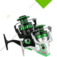 EF1000-7000 12BB 5.2:1 Metal Spinning Fishing Reel Fly Wheel For Fresh/Salt Water Sea Carp