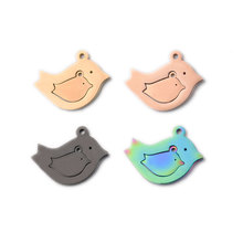 3sets/lot Mirror Polish two-in-one Bird Charms Set for Mother & Daughter Jewelry Accessories DIY Making Necklace/Bracelet