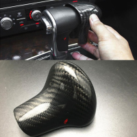 Car Gear Shift Knob Protector For AUDI A4 A5 S5 A6 S6 A7 Q5 Q7 2014 2015 2016 Carbon Fiber for AT car only
