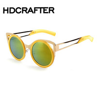 Vintage Retro Round Sunglasses Women Men Circle Metal Reflective Mirror Gold Sun Glasses Ladies