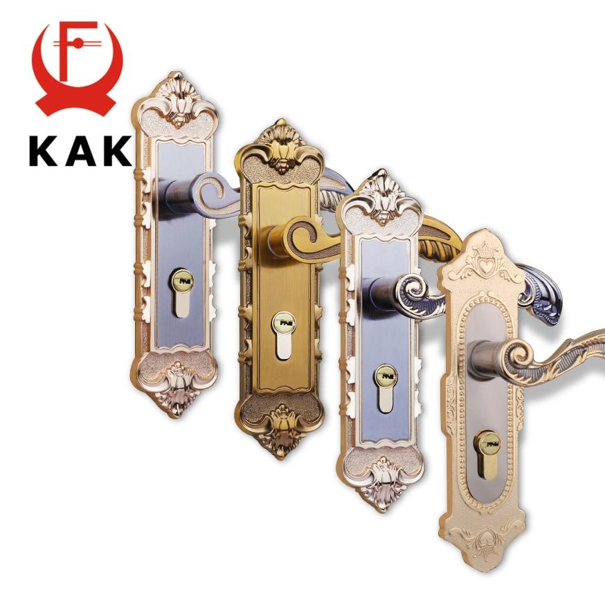 Kak European Mute Room Door Lock Interior Door Handles