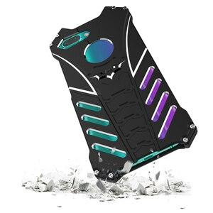 Image 2 - Luxury Batman Kickstand Shockproof Case For Huawei Honor 10 Aluminum Bumper Skin Armor Metal Back Cover