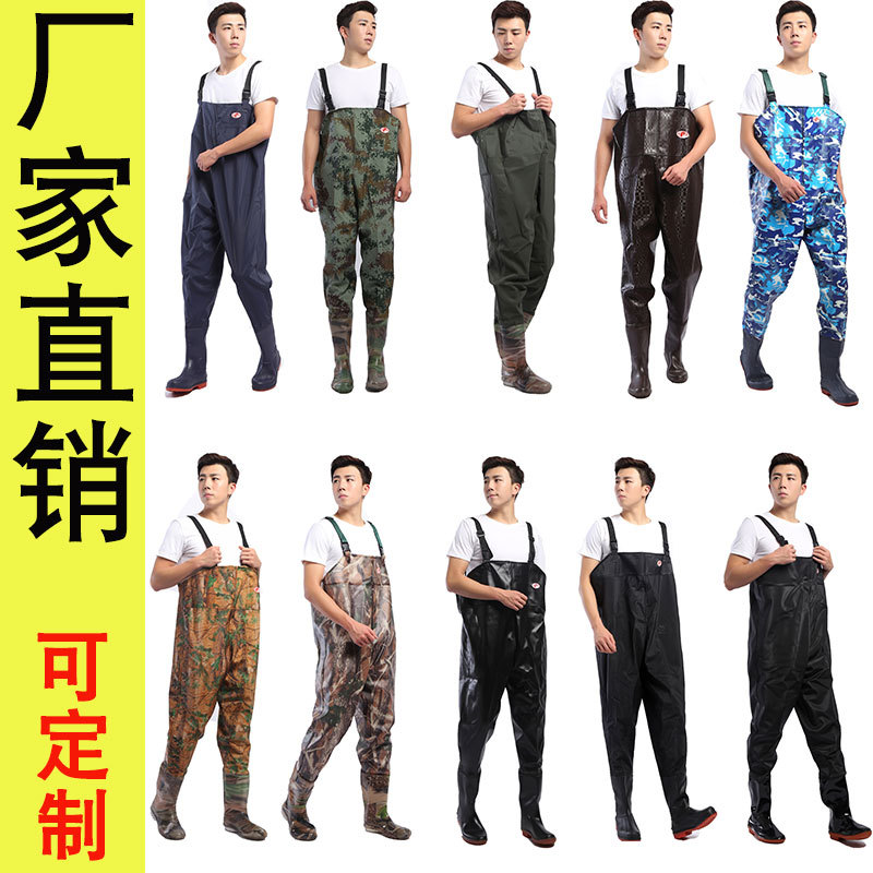 suit Breathable Fishing Waders Outdoor Fly Fishing Stocking Foot Camouflage Waterproof Fishing Boots Pants