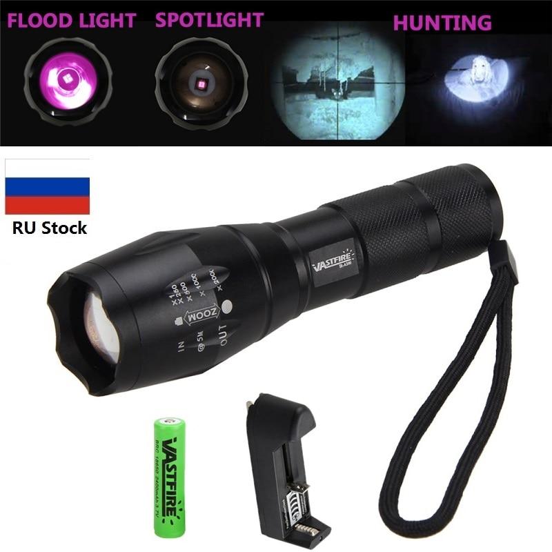 Vastfire ir 850nm visão noturna lanterna tocha à prova dwaterproof água infravermelho zoomable led luz para ser usado com dispositivo de visão noturna