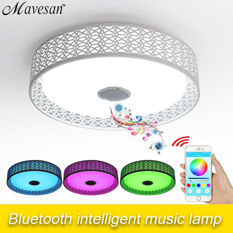 New desigh APP bluetooth LED ceiling light white color+RGB With Mobile Phone App Ios/android led remote control Music 2 4g wifi android ios app remote control led globe light bulb e27 9w rgb