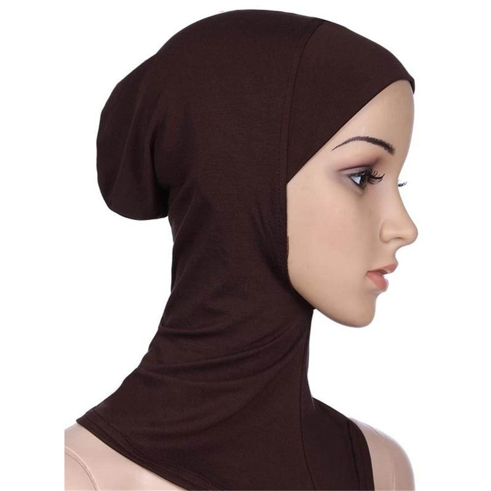New Soft Muslim Full Cover Inner Cap Women Hijab Underscarf Neck Head Hat Headscarf Women's Hijab bonnet Cap Head Wraps Islamic